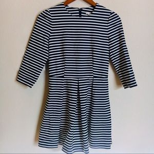 Gap Navy and White Striped A-Line Dress